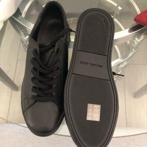 "Black leather men's sneaker "" new """